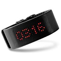"""Dot matrix"" cuff LED watch"